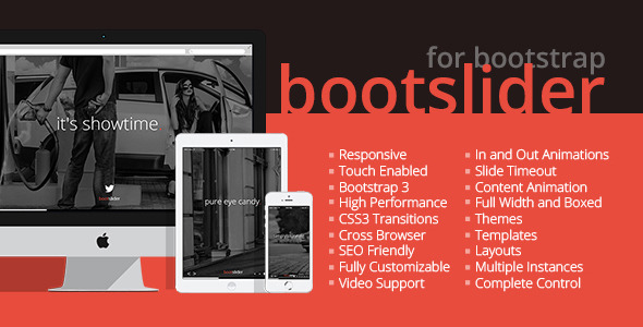 CodeCanyon Bootslider Responsive Bootstrap CSS3 Slider 6477433