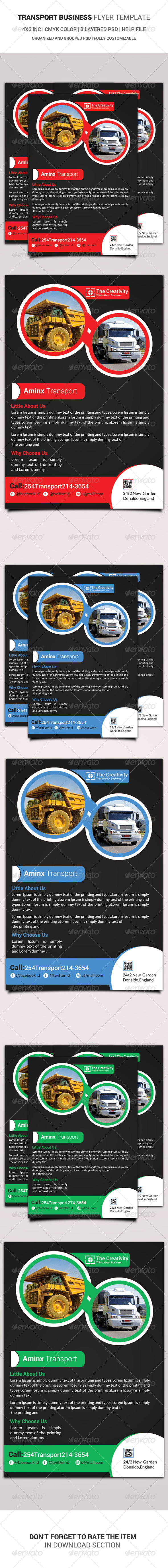 GraphicRiver Transport Business Flyer Template 6477454