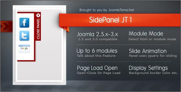 CodeCanyon Side Panel JT1 Module for Joomla 6341165