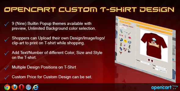 OpenCart Custom T-Shirt Design - CodeCanyon Item for Sale