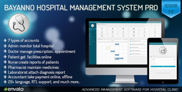 Bayanno Hospital Management System Pro - CodeCanyon Item for Sale