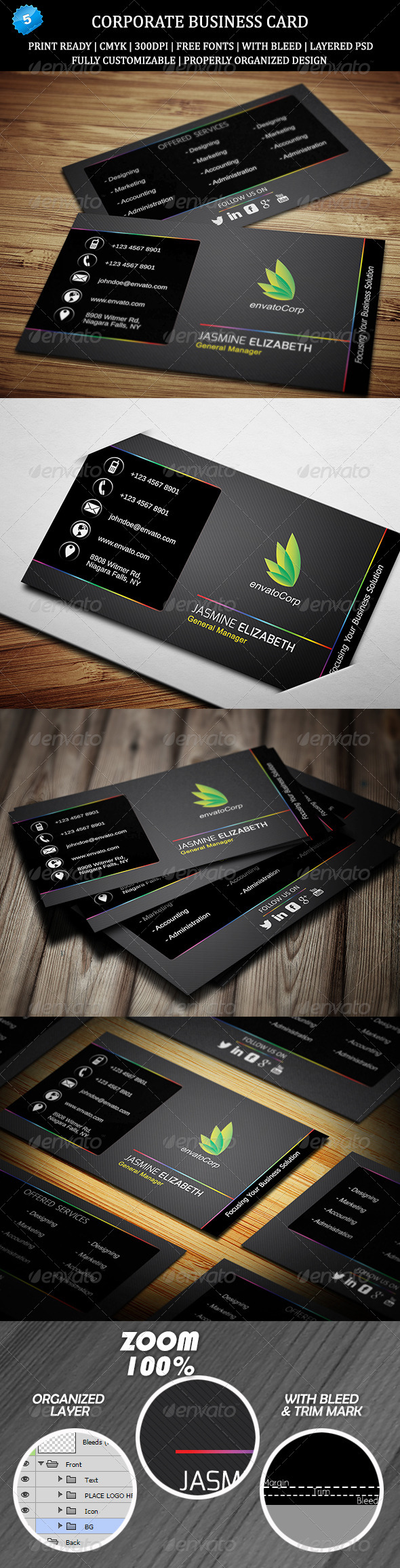 GraphicRiver Corporate Business Card 5 6478334