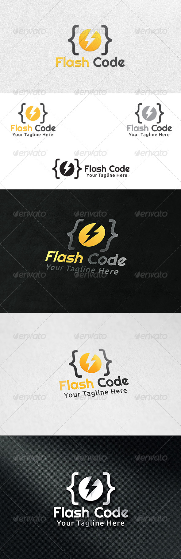 GraphicRiver Code Flash Logo Template 6478357