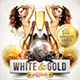White Gold Glamour Party Flyer Template - GraphicRiver Item for Sale