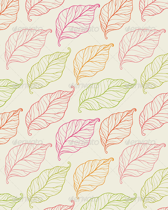 GraphicRiver Seamless Pattern with Leaves 6479382