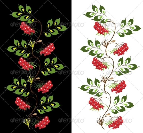 GraphicRiver Delicate Ornament Viburnum 6479637