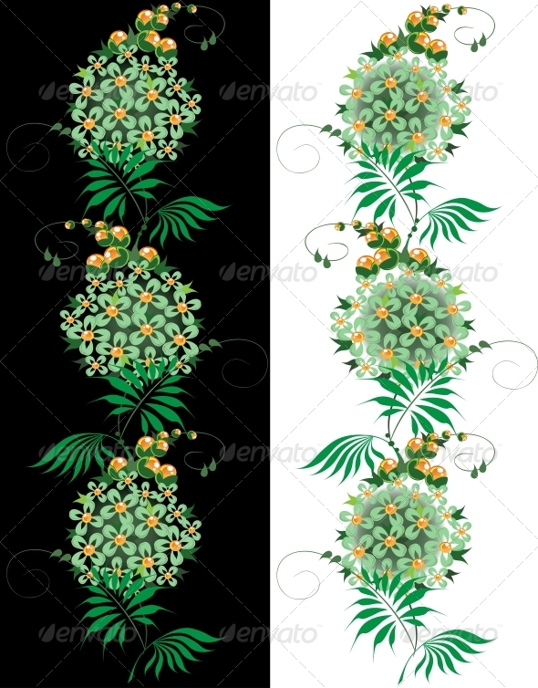 GraphicRiver Ornament from Green and Yellow Flower 6479650