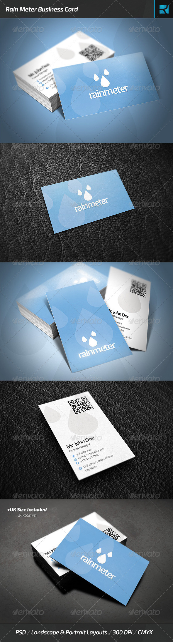 GraphicRiver Rain Meter Business Card 6479754