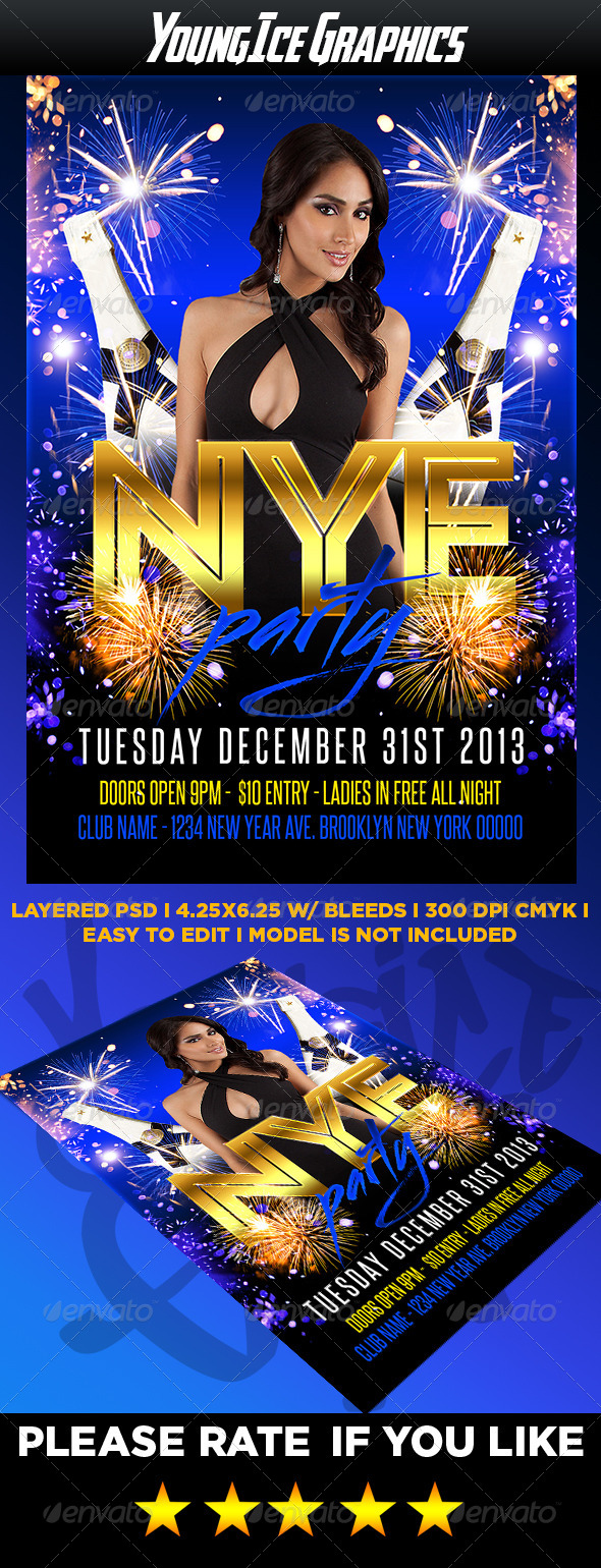 GraphicRiver NYE Party Flyer 6479831