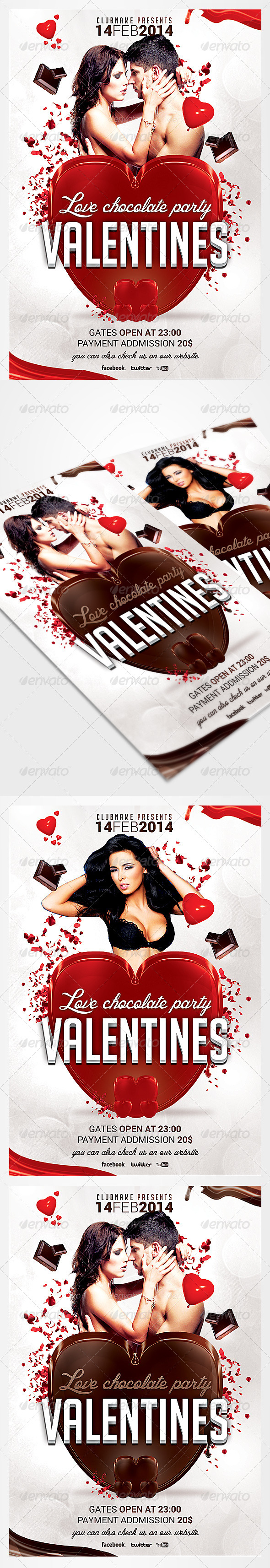GraphicRiver Valentine s day flyer 6452842