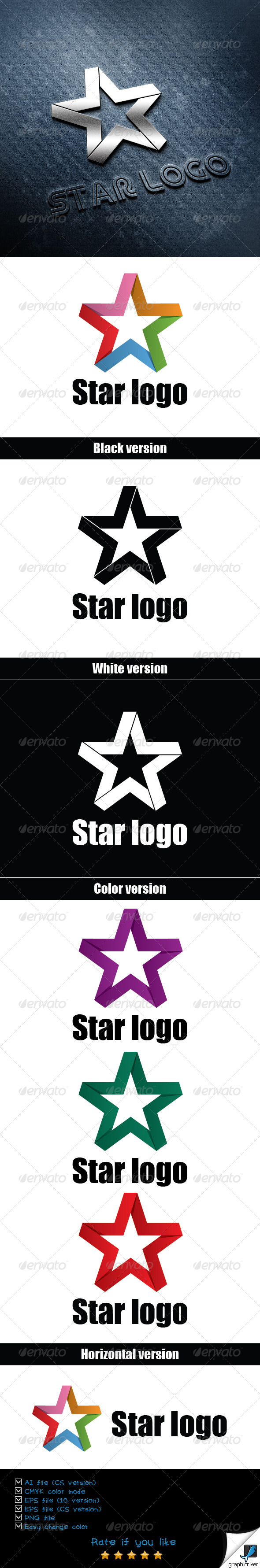 GraphicRiver Star Logo Tamplate 6480039