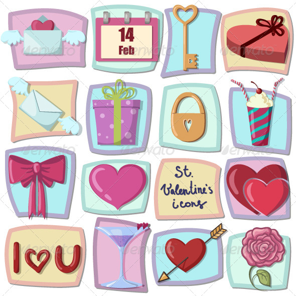 GraphicRiver Valentines Day Icons 6480100