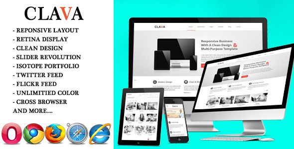 ThemeForest Clava Multipurpose Responsive HTML Template 6480105