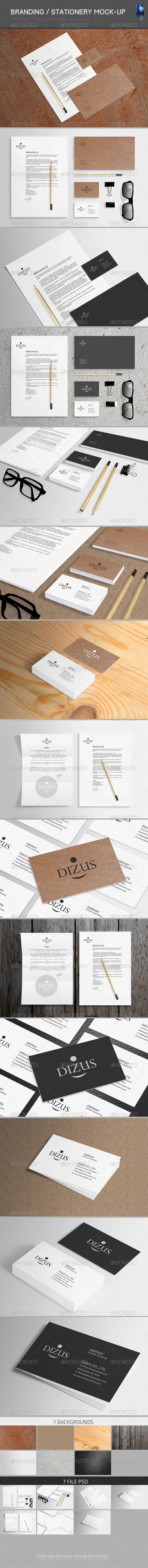 GraphicRiver Stationery Branding Mock-Up 6480484