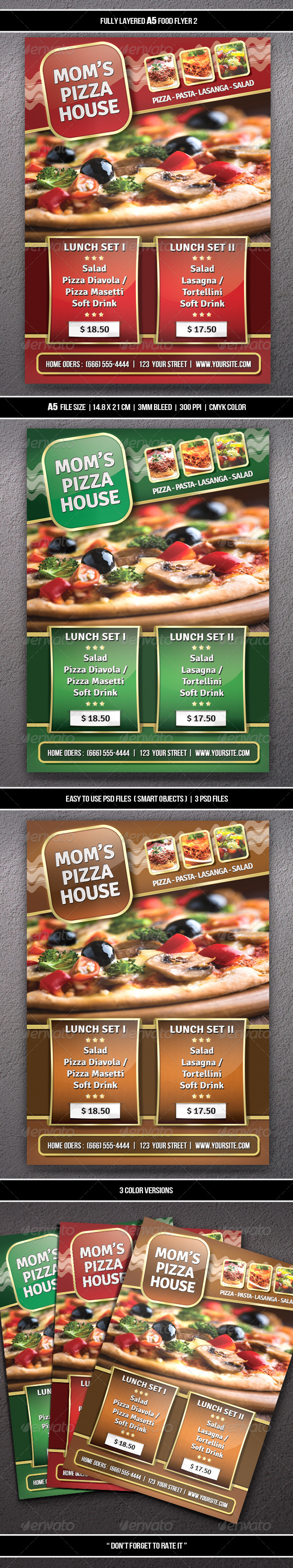 GraphicRiver Food Flyer 2 A5 6480590