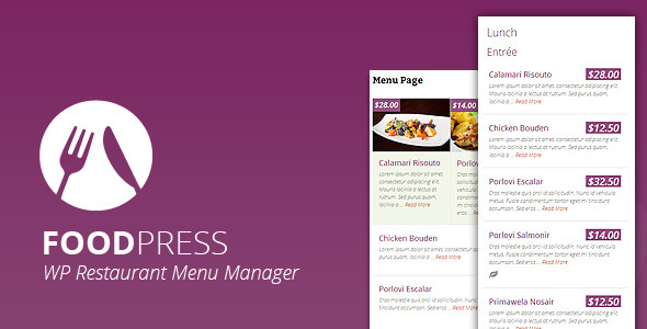 CodeCanyon foodpress Restaurant Menu Management WP Plugin 6480595