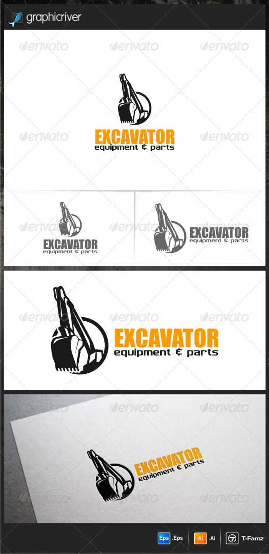 GraphicRiver Excavator Logo Templates 6480607