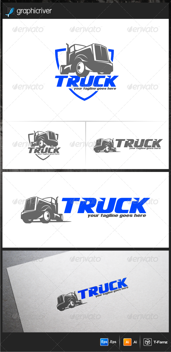 GraphicRiver Truck Logo Templates 6480610