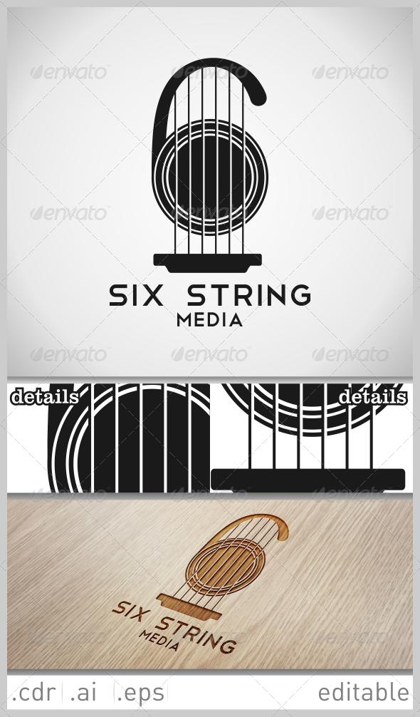 GraphicRiver Six String Media Logo 6448609