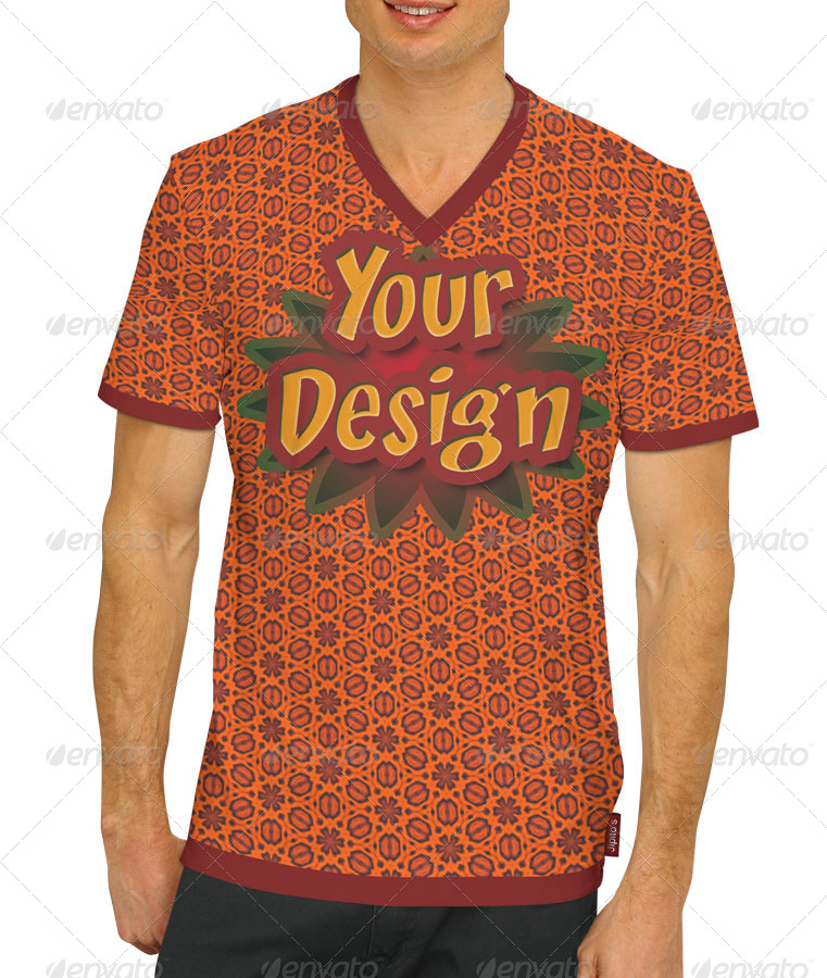 Male t shirt crew neck v neck mock ups by jipito for Mock crew neck shirts