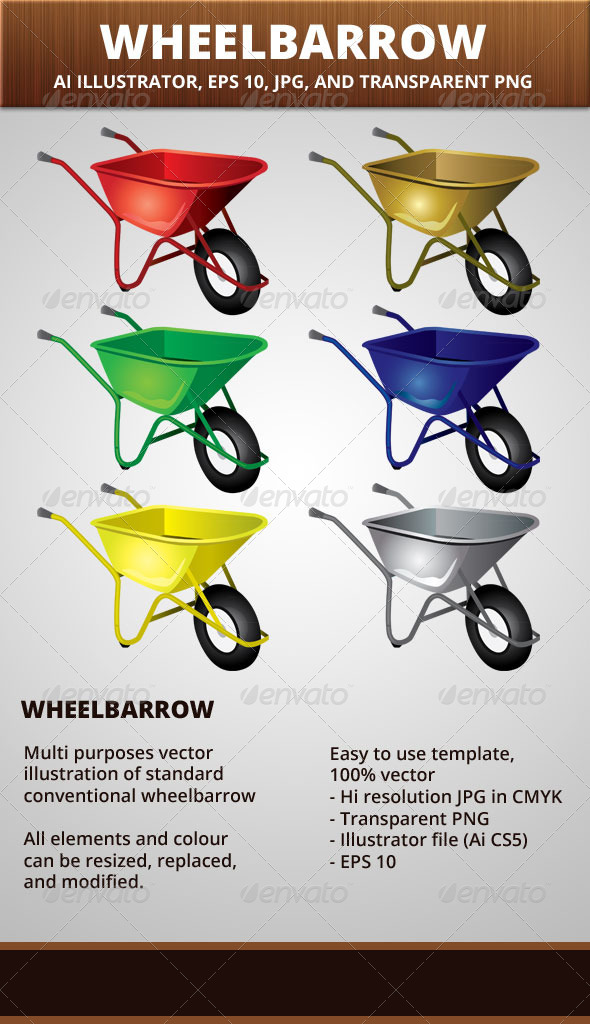 GraphicRiver Wheelbarrow Vector Illustration 6480936