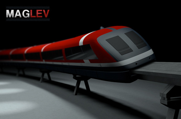 Maglev Train - 3DOcean Item for Sale