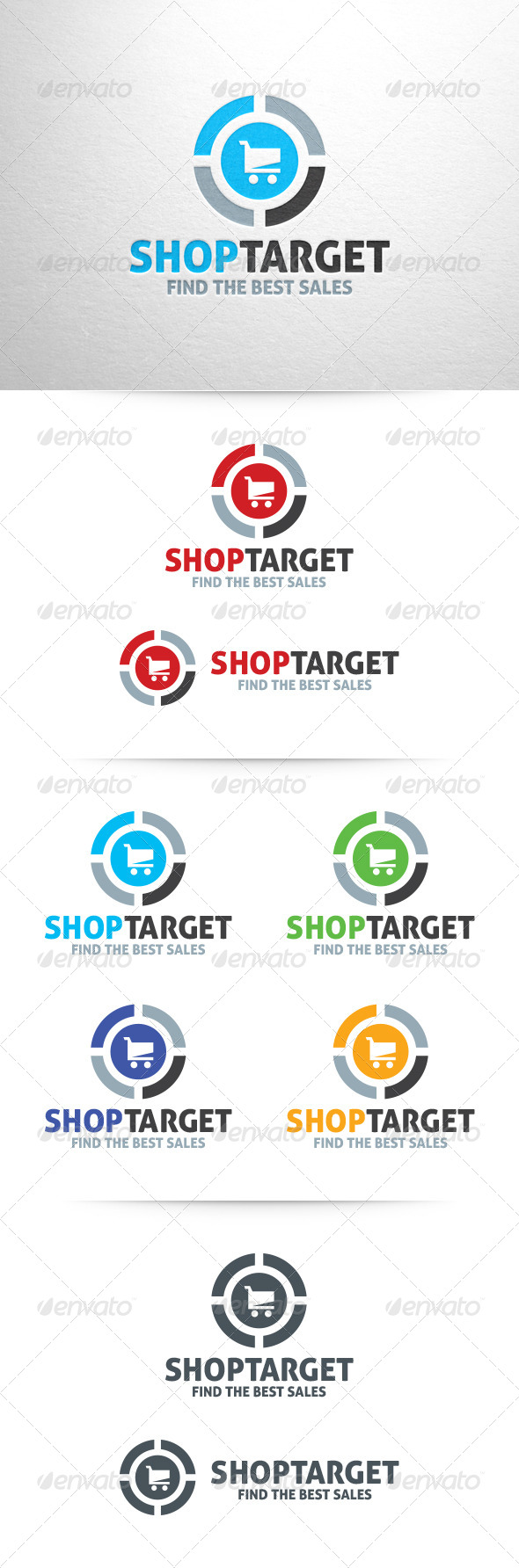 GraphicRiver Shop Target Logo Template 6481059