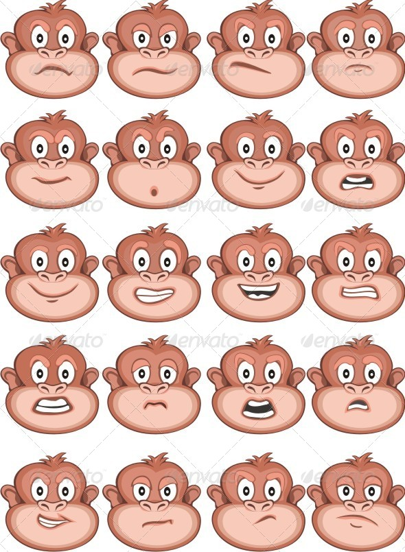 GraphicRiver Monkey Expressions 6481237 Created:
