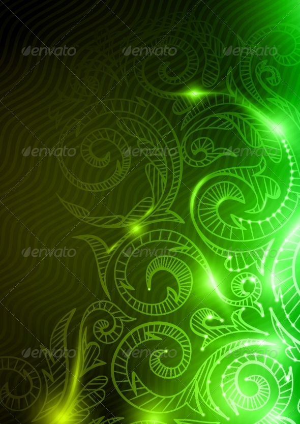 GraphicRiver Neon Pattern Background 6481409
