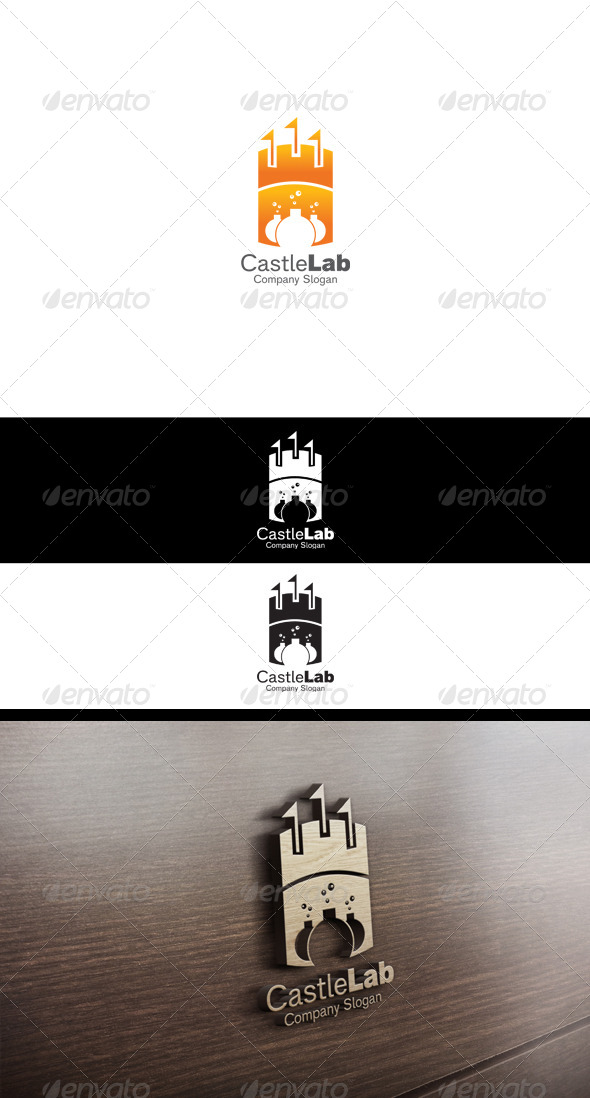 Castle Lab Logo - Buildings Logo Templates