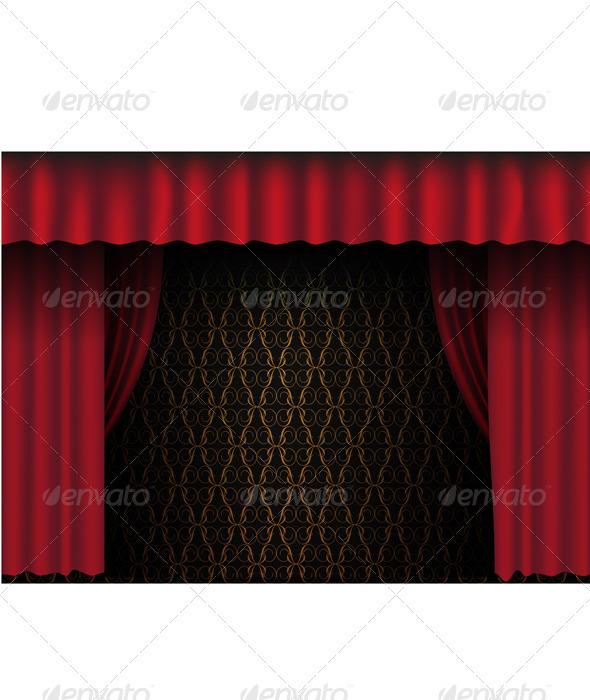 GraphicRiver Red Theatre Curtain 677652