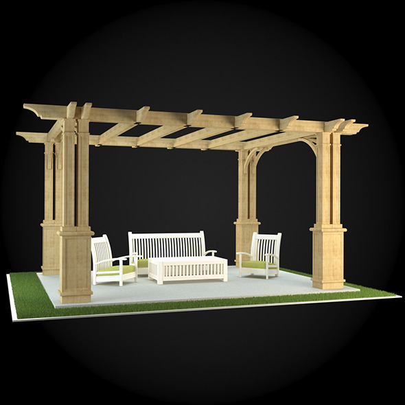 Pergola 011 - 3DOcean Item for Sale