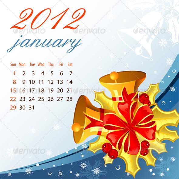 Calendar for 2012 January