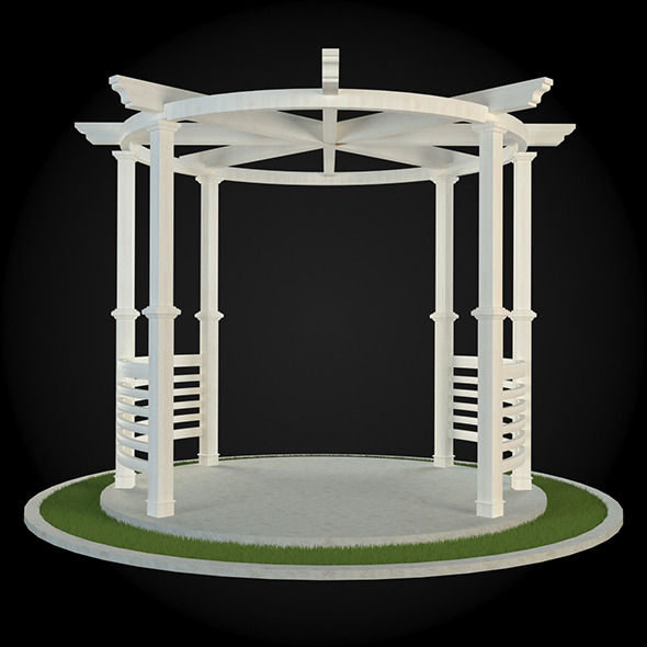 Pergola 015 - 3DOcean Item for Sale