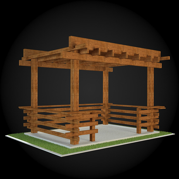 Pergola 020 - 3DOcean Item for Sale
