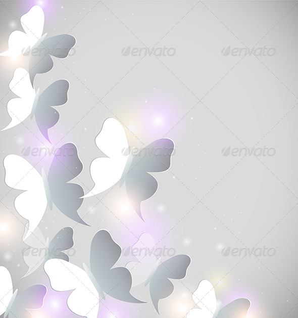 GraphicRiver Abstract Background with Butterflies 6481706