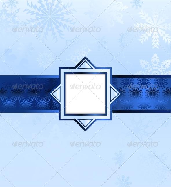 GraphicRiver Blue Christmas Background 6481712