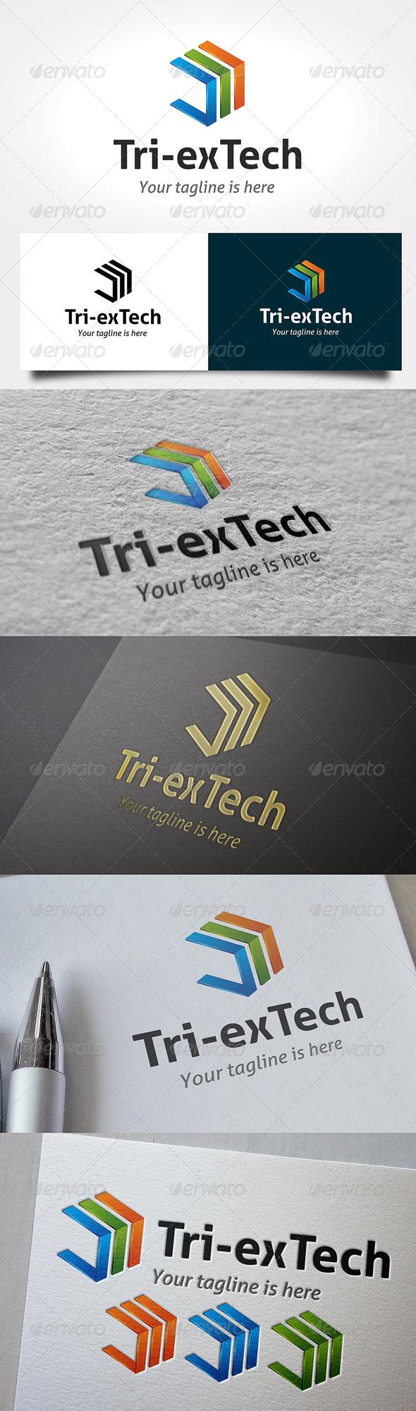 GraphicRiver Tri-exTech Logo 6481798
