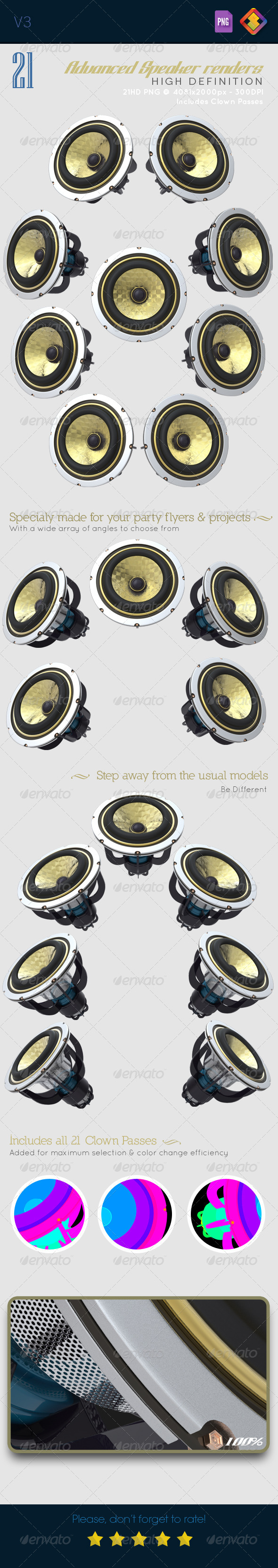 GraphicRiver 21HD Advanced Speaker Renders V3 6481852