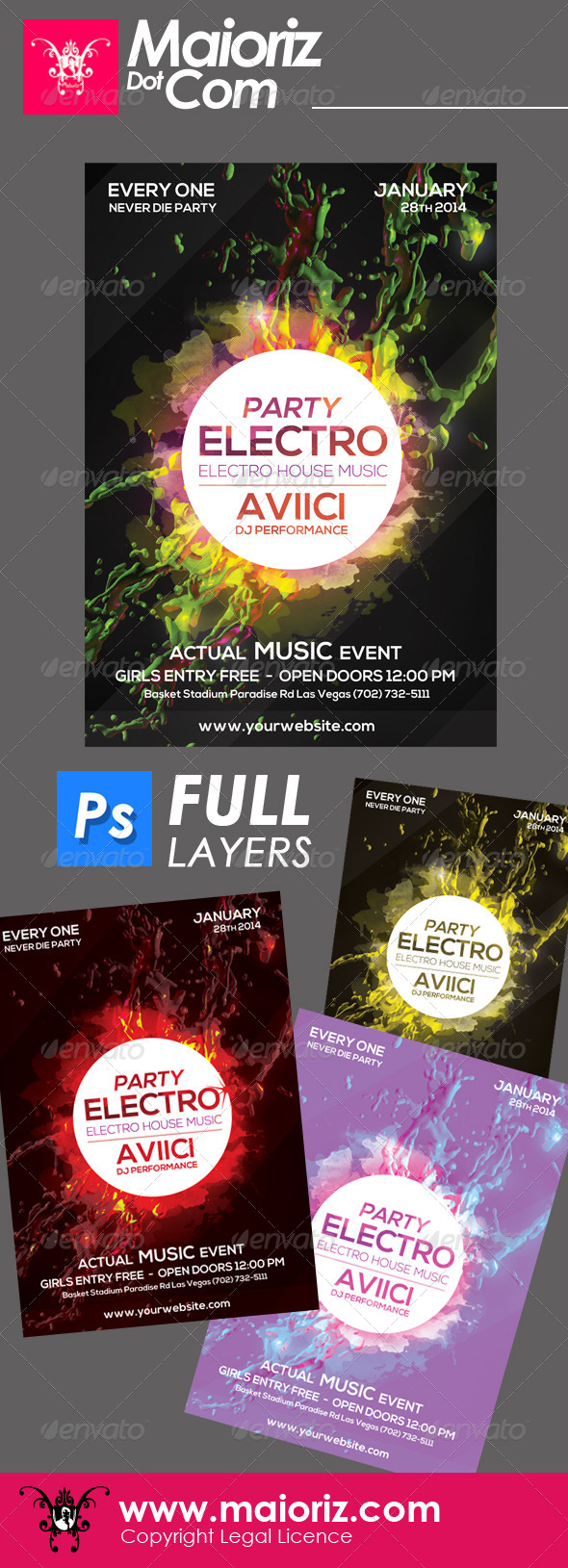 GraphicRiver Electro Splash Flyer 6457526