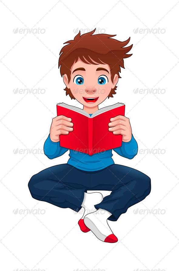 GraphicRiver Boy is Reading a Book 6482404