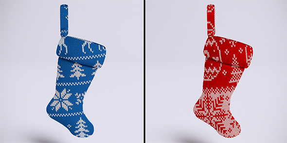 3DOcean Christmas stockings VrayC4D 6482524
