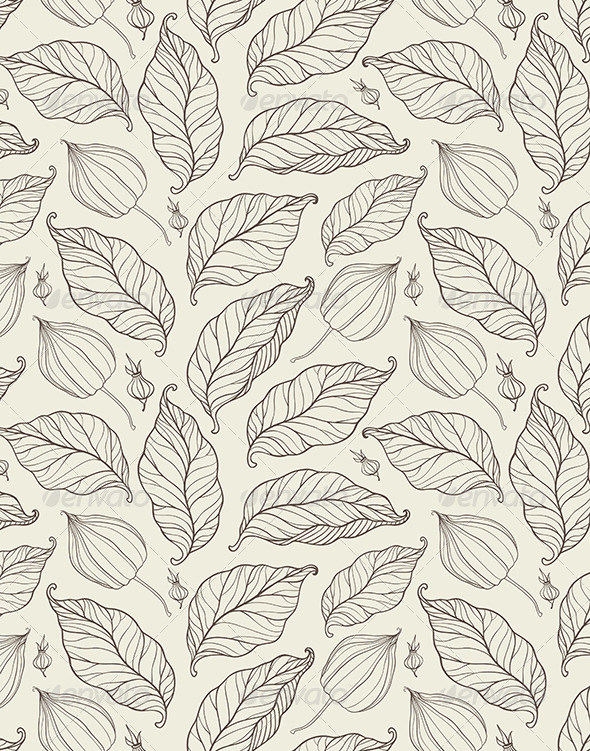 GraphicRiver Seamless Pattern with Falling Leaves 6482560