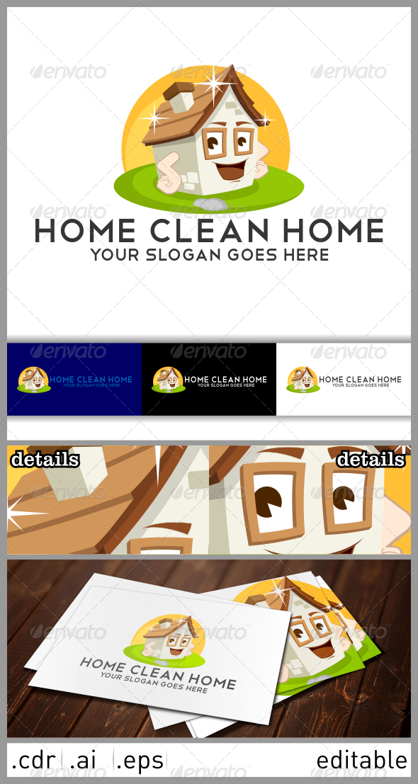 GraphicRiver Home Clean Home Logo 6482581