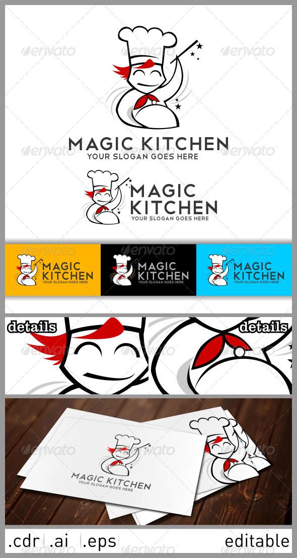 GraphicRiver Magic Kitchen Logo 6482584