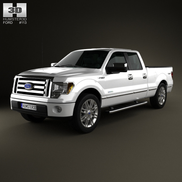 Ford F-150 Platinum Super Crew Cab 2012 - 3DOcean Item for Sale