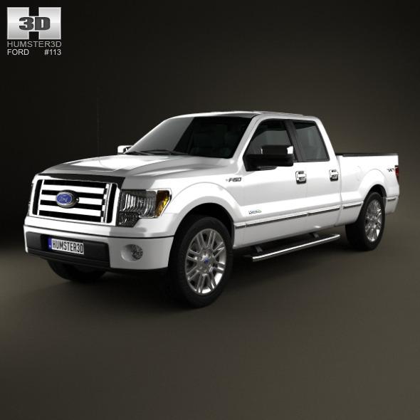 3DOcean Ford F-150 Platinum Super Crew Cab 2012 6482893