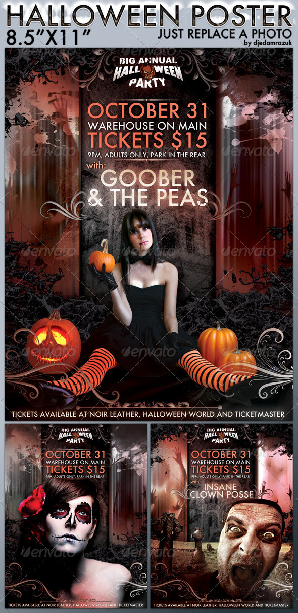 GraphicRiver Easy to Modify Halloween Poster 677723