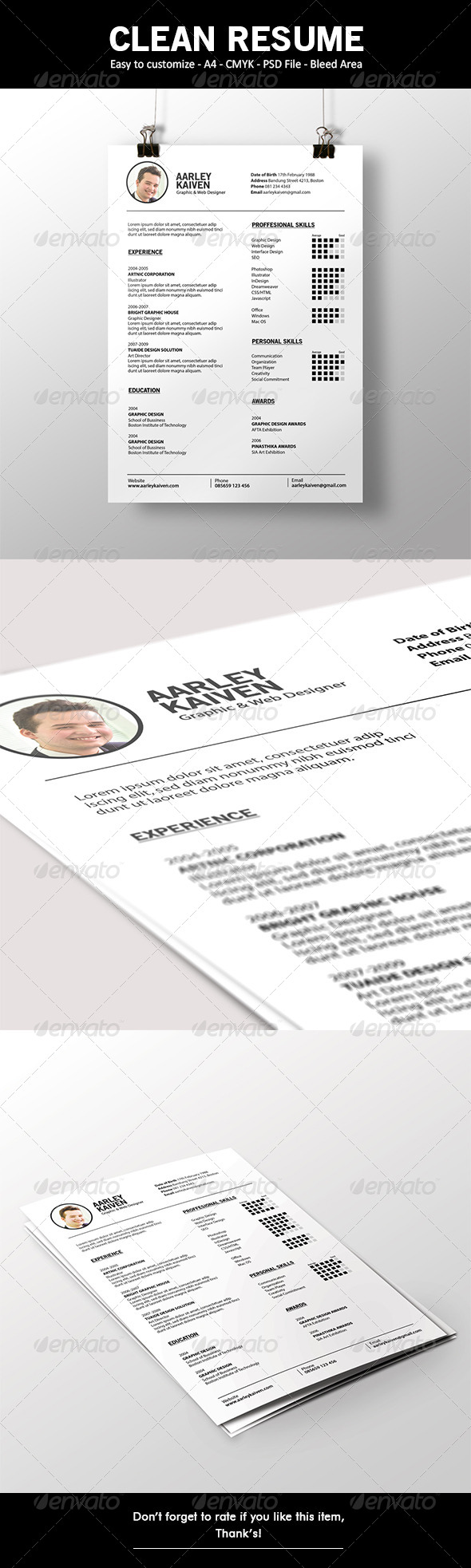 GraphicRiver Clean Resume 6482946