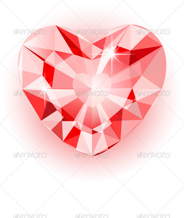 GraphicRiver Diamond Heart 6482954
